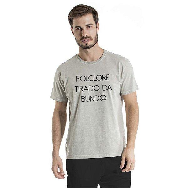 Camiseta Estonada Folclore Cinza