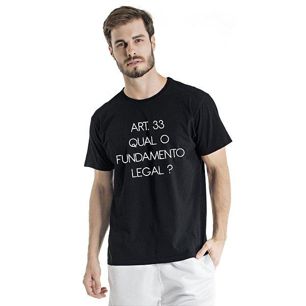 Camiseta Estonada Artigo 33 Preta