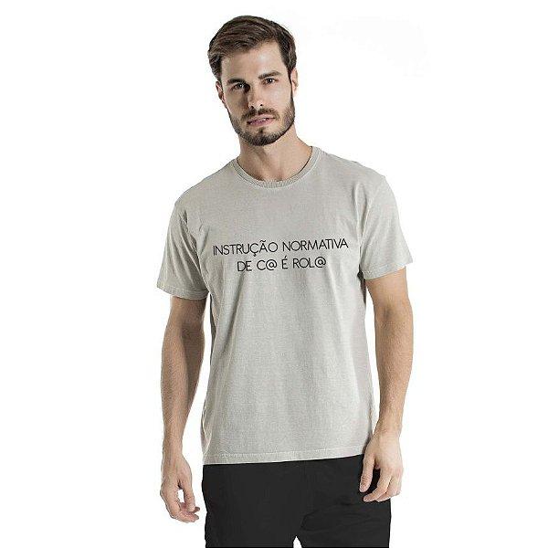 Camiseta Estonada Instrução Normativa Cinza