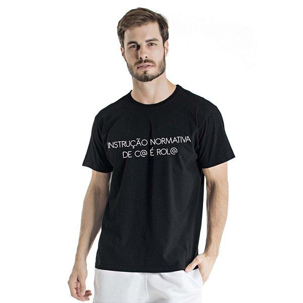 Camiseta Estonada Instrução Normativa Preta