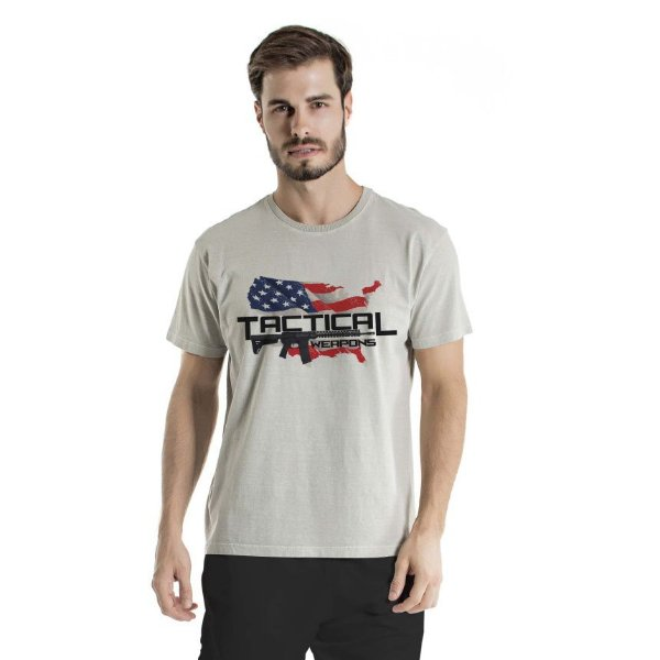 Camiseta Estonada Tactical Weapons Cinza
