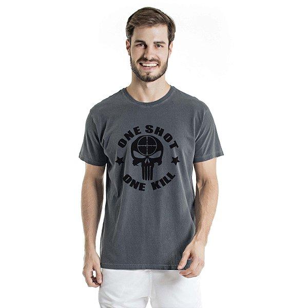 Camiseta Estonada One Shot Chumbo