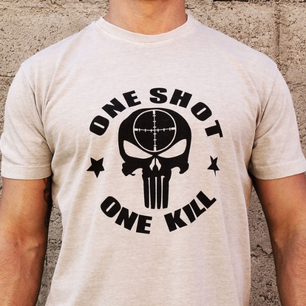 Camiseta Estonada One Shot Cinza