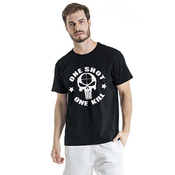 Camiseta Estonada One Shot Preta
