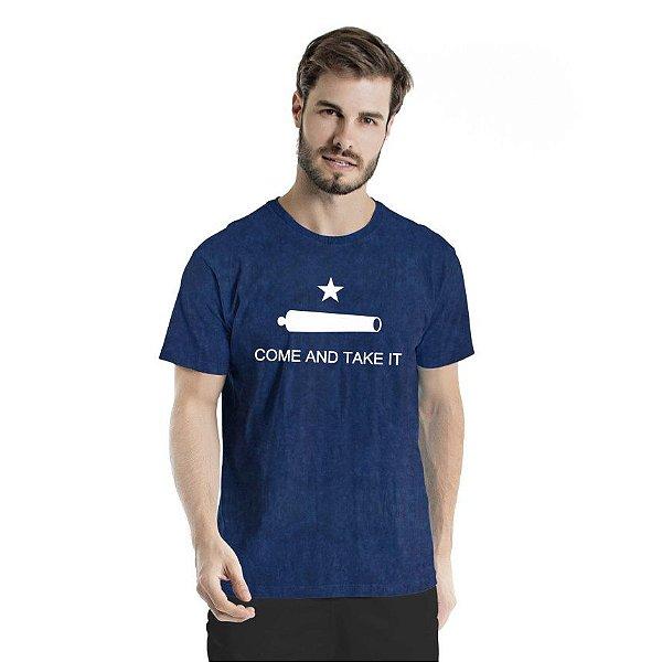 Camiseta Estonada Come And Take It Marinho Sky
