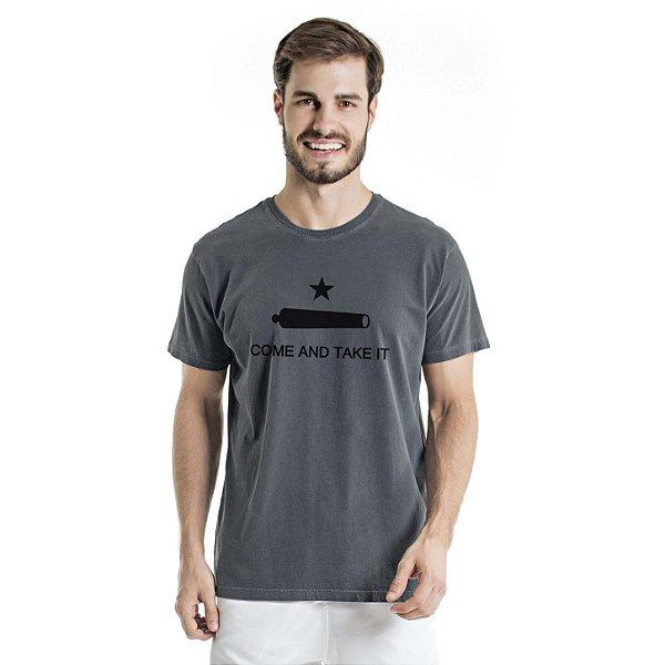 Camiseta Estonada Come And Take It Chumbo