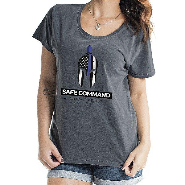 Baby Look Feminina Safe Command Chumbo
