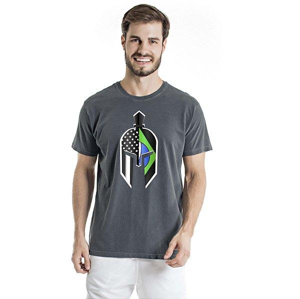 Camiseta Estonada Green Gladiator Mask Chumbo