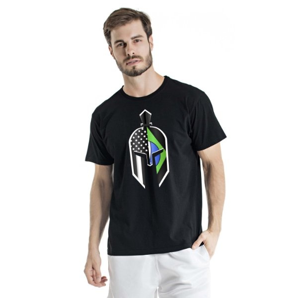 Camiseta Estonada Green Gladiator Mask Preta