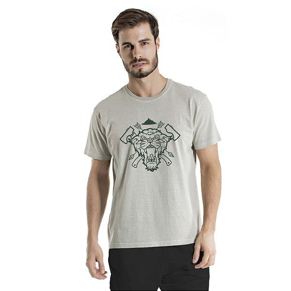 Camiseta Estonada Sobrevivência em Mata Cinza