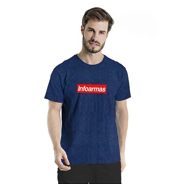 Camiseta Estonada Infoarmas por Esperandio Tactical Concept Marinho Sky