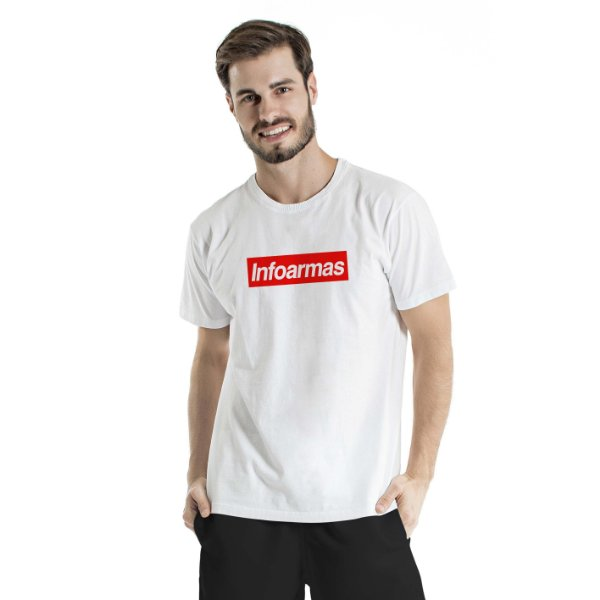 Camiseta Estonada Infoarmas por Esperandio Tactical Concept  Branca