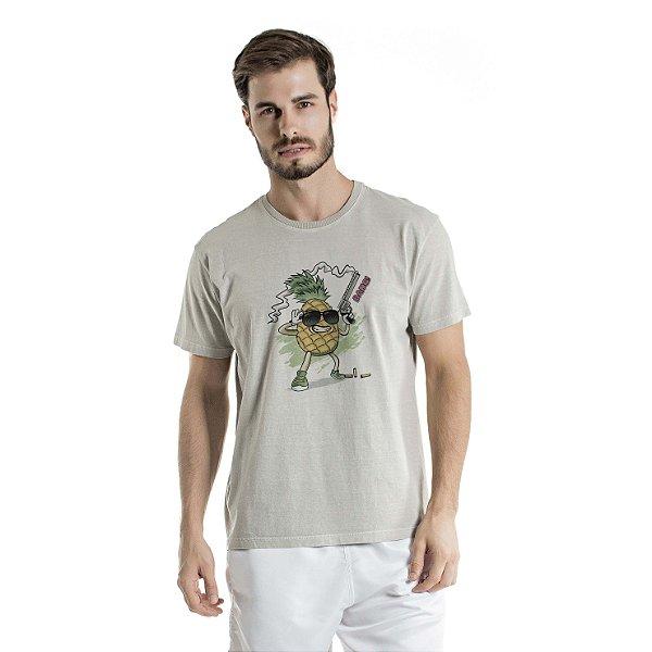 Camiseta Estonada Pineapple Atirador Cinza