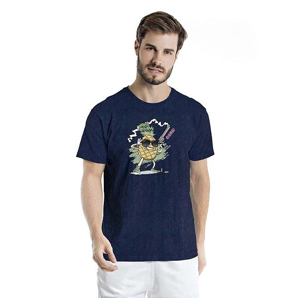 Camiseta Estonada Pineapple Atirador Marinho Sky