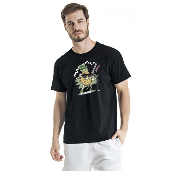 Camiseta Estonada Pineapple Cac de Verdade Preta