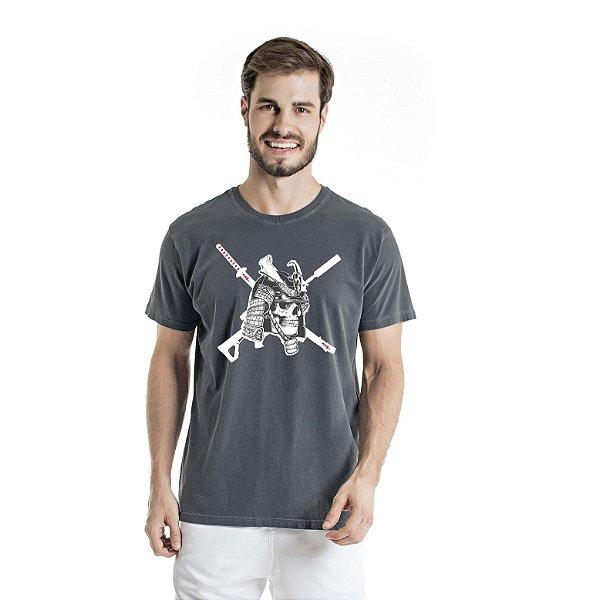Camiseta Estonada Caveira Chumbo