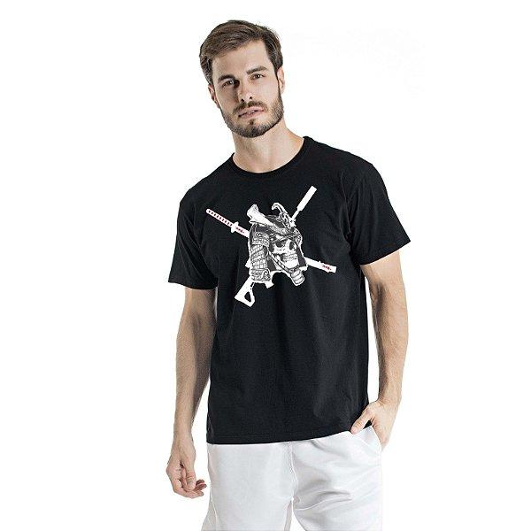 Camiseta Estonada Caveira Preta