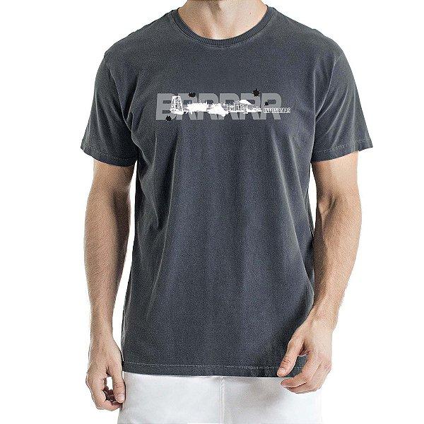 Camiseta Estonada Aeronave Chumbo
