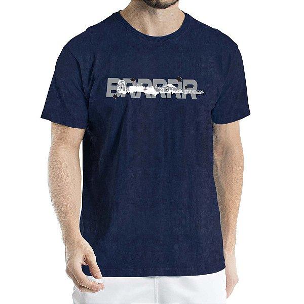 Camiseta Estonada Aeronave Marinho Sky