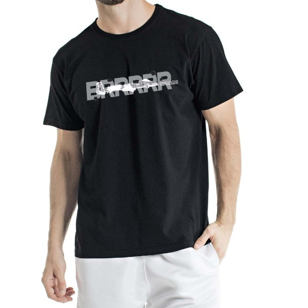 Camiseta Estonada Aeronave Preta