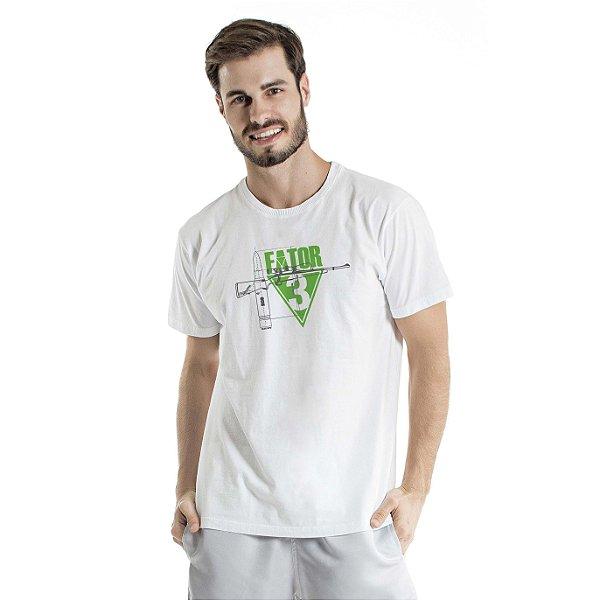 Camiseta Estonada Fator Branca