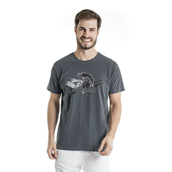 Camiseta Estonada Spartan Chumbo