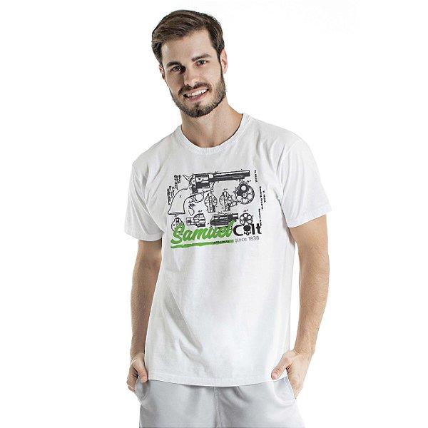 Camiseta Estonada Samuel Colt Pacificadora Branca
