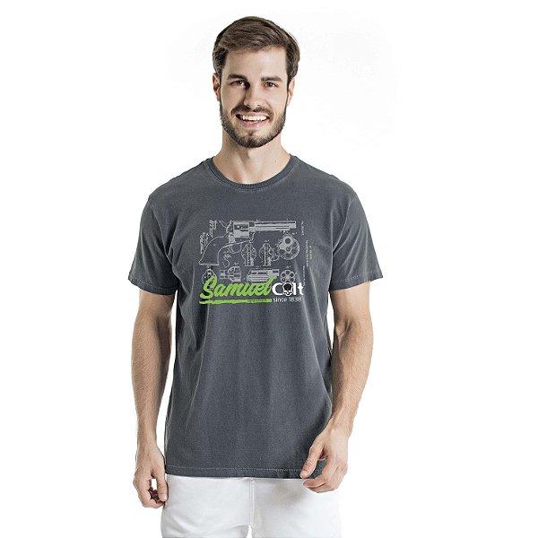 Camiseta Estonada Samuel Colt Pacificadora Chumbo