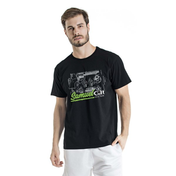 Camiseta Estonada Samuel Colt Pacificadora Preta