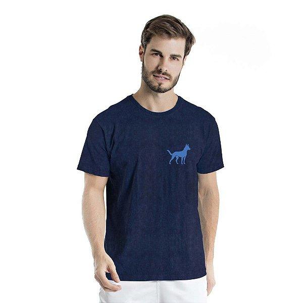 Camiseta Estonada Sheep Dog Marinho Sky