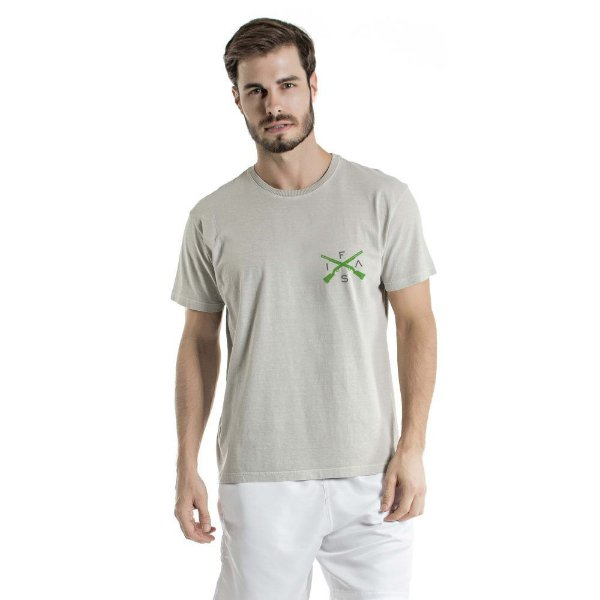 Camiseta Estonada Info Brazil Cinza