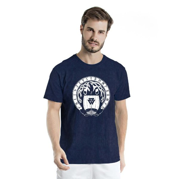 Camiseta Estonada Valhalla Marinho Sky