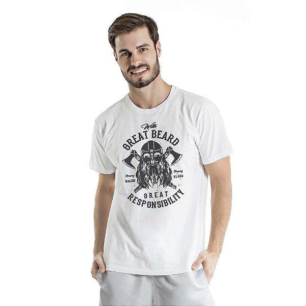 Camiseta Estonada Great Beard Branca