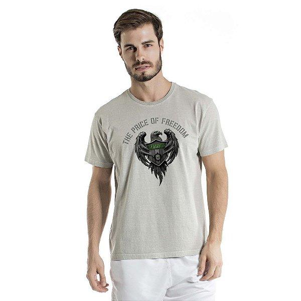 Camiseta Estonada The Price Of Freedom Cinza
