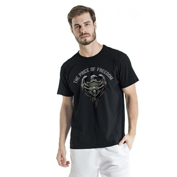Camiseta Estonada The Price Of Freedom Preta