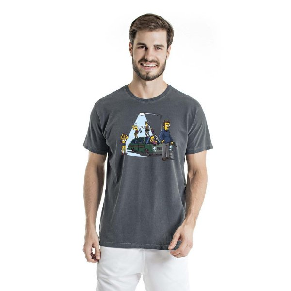 Camiseta Estonada Porte Abacaxi Chumbo