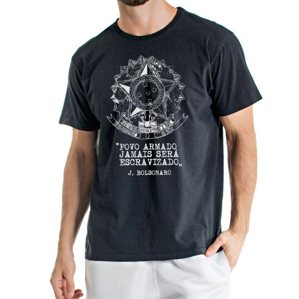 Camisa Estonada  Escudo da Republica Preta