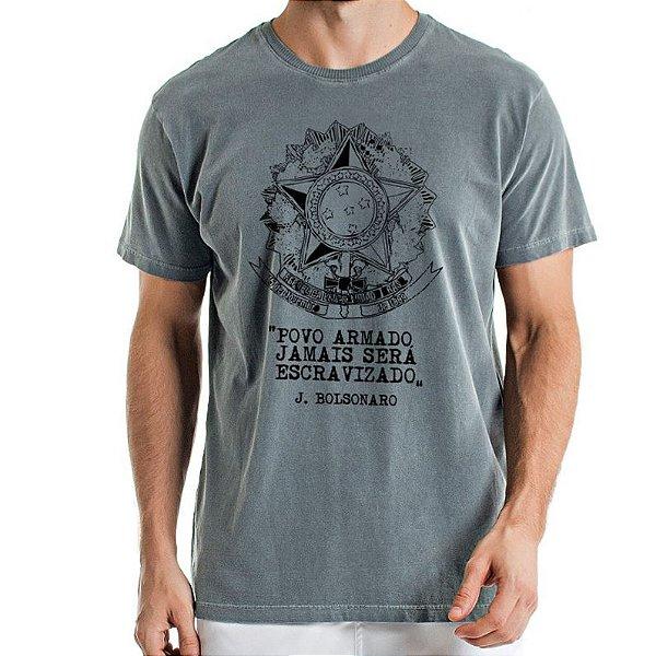Camisa Estonada  Escudo da Republica Chumbo