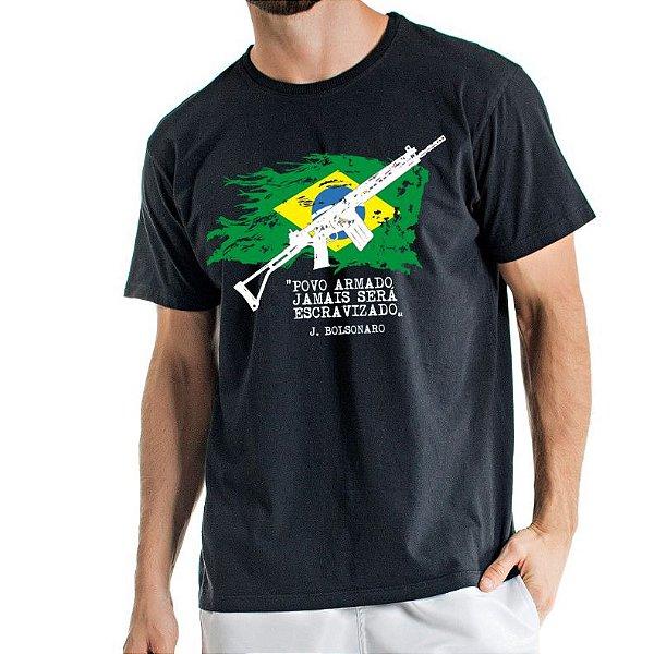 Camisa Estonada Brasil Armado Preta