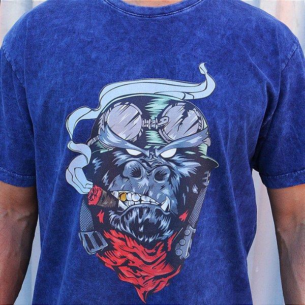 Camiseta Estonada Marinho Sky Gorila