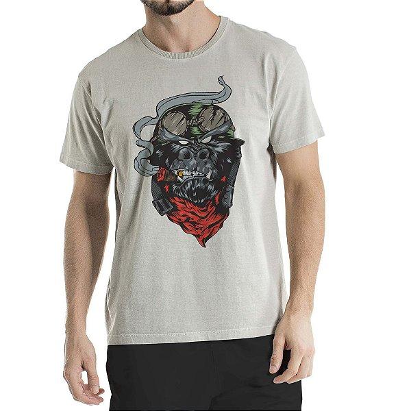 Camiseta Estonada Cinza Gorila