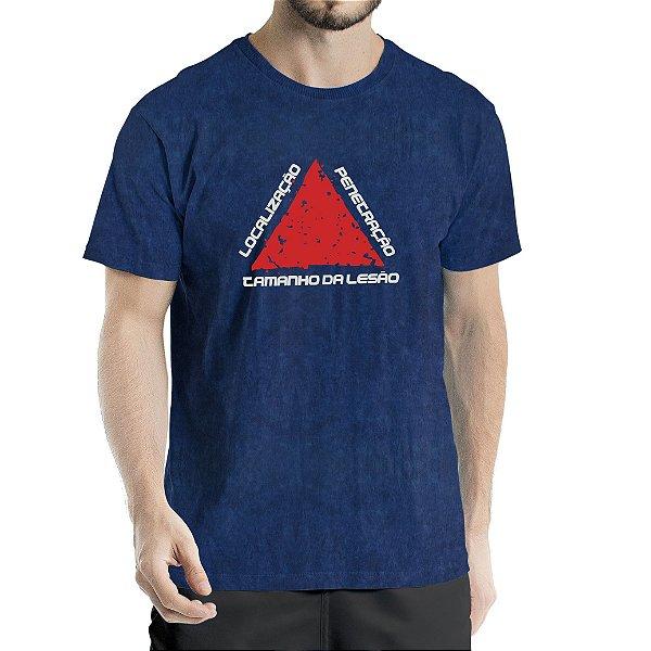Camiseta Estonada Marinho Sky Localização