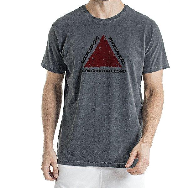 Camiseta Estonada Chumbo Localização