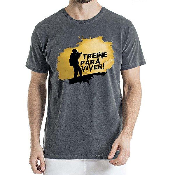 Camisa Estonada Treine para Viver Chumbo