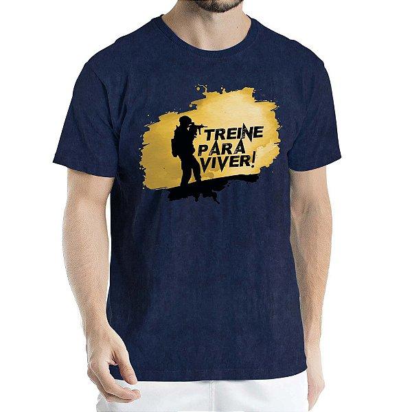Camisa Estonada Treine para Viver Sky Marinho