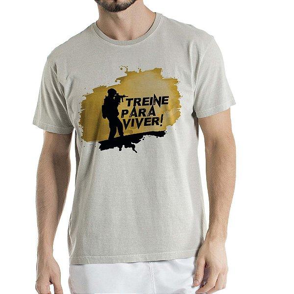 Camisa Estonada Treine para Viver Cinza