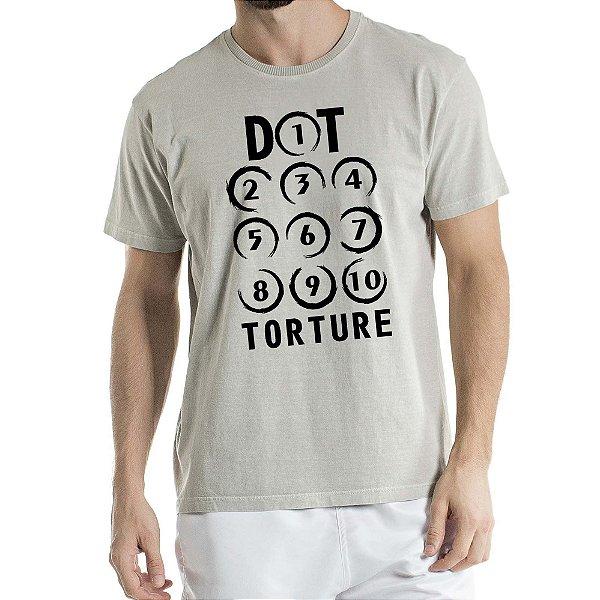 Camisa Estonada Dot Torture Humberto Wendling Cinza