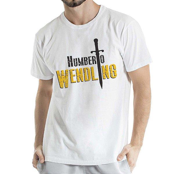 Camisa Estonada logo Humberto Wendling Branca