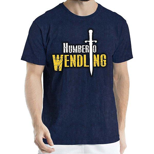 Camisa Estonada logo Humberto Wendling Marinho Sky