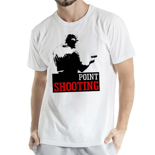Camisa Estonada Point Shooting Humberto Wendling Branca